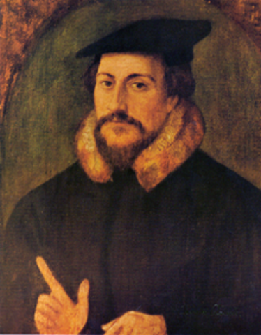 Calvin is converted to the Reformed religion.