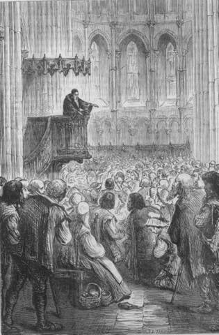 Calvin start preaching less per week