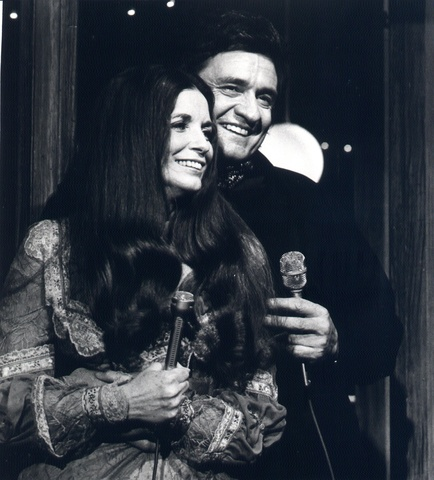 Johnny and June Carter Cash broadcast their show from Carefreem Arizona