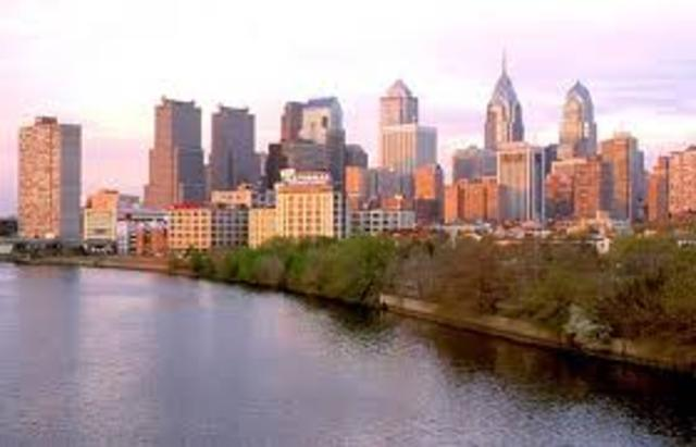 Philadelphia is founded