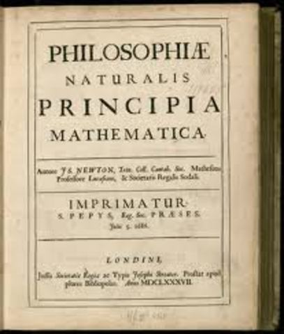 "Newton publishes ""Principia"""