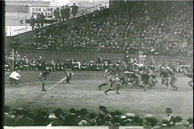 Football game at Ebbet's Field