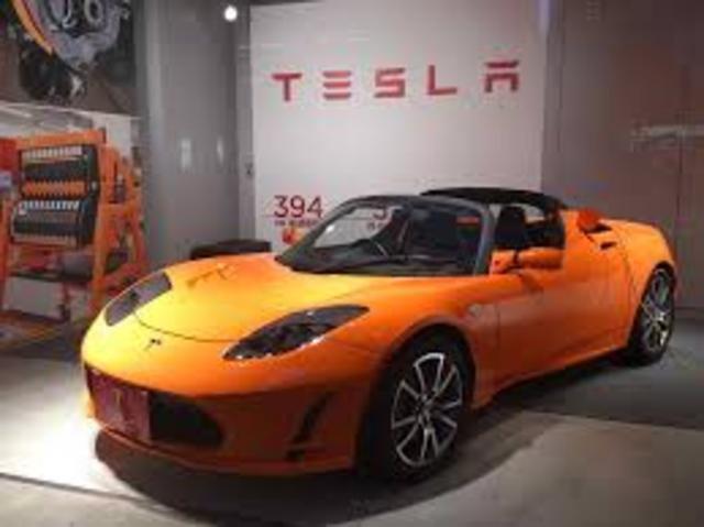 Tesla produces the Roadster which gets over 200 miles