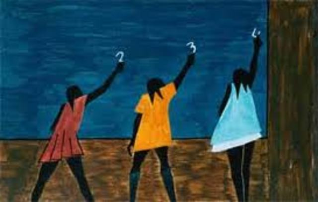 """""""The Migration of the Negro"""" by Jacob Lawrence"""