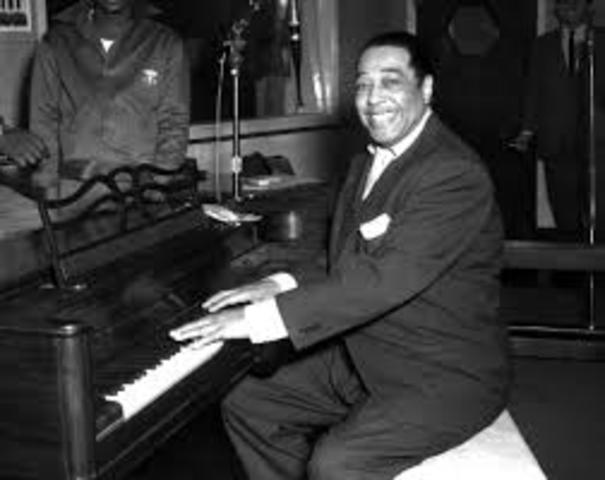 Duke Ellington performs
