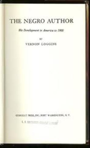 The Negro Author: His Development in America