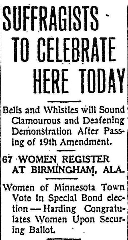 19th Amendment Passed