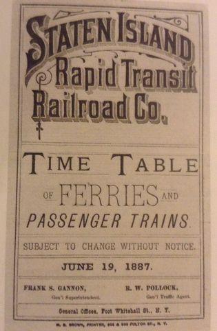 Staten Island Rapid Transit Railroad Company takes control of ferry