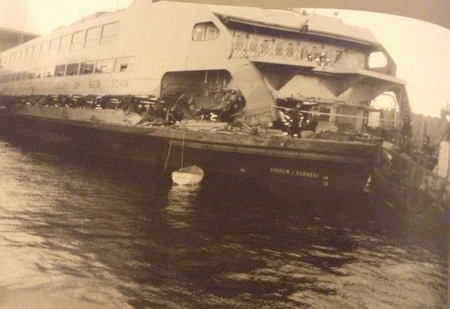 Andrew J. Barberi ferryboat has a terrible crash