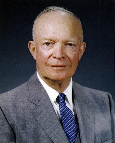 General Dwight D. Eisenhower rides the ferry