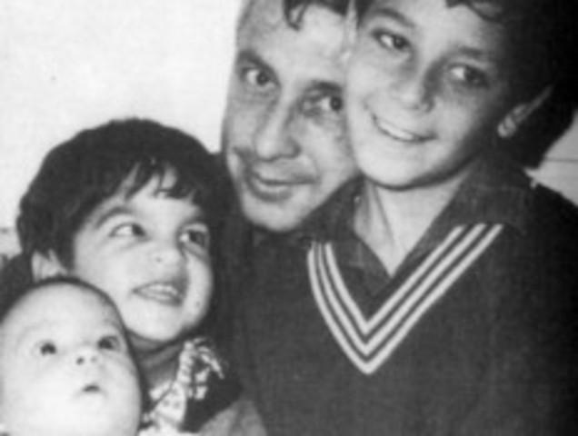 אריאל שרון ומשפחתו