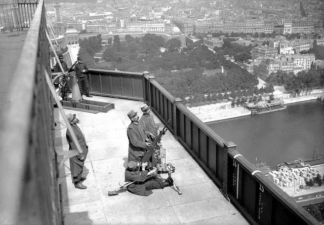 Eiffel Tower is closed during WWI.