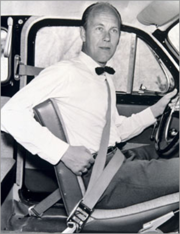 Patent for vehicle safety belt