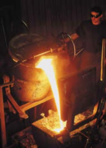 Historia de la manufactura timeline timetoast timelines - Baneras de hierro fundido ...