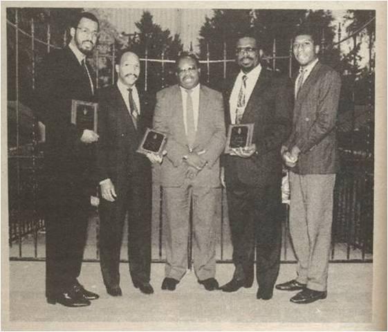 ABCA Officers at  Palmer campus, 1990