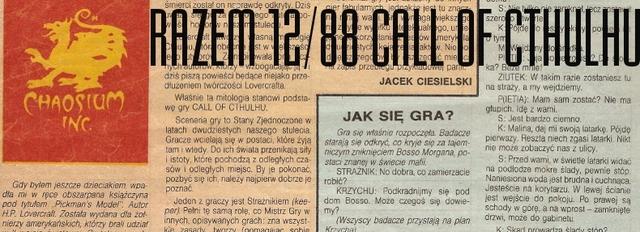 Gra Fantazji: Call of Cthulhu