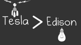 Nikola Tesla i Thomas Edison timeline
