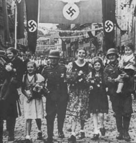 German anenexation of the sudeteland.