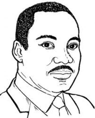 Martin Luther King Jr by Imonie Crenshaw timeline