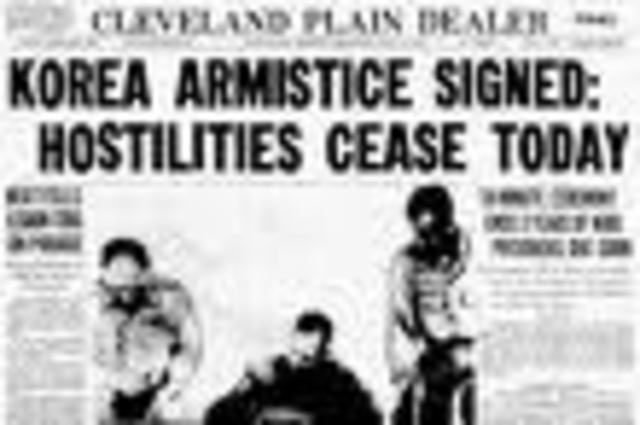 Armistice signed ending the Korean War