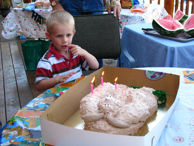 I turned three.