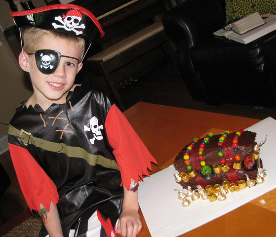 I turned five as a pirate.