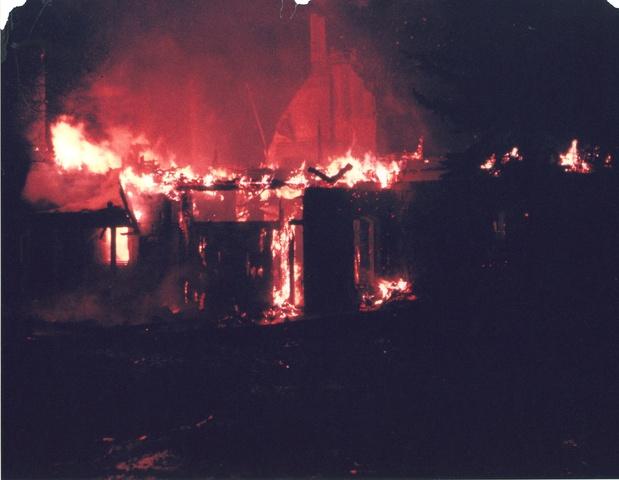 Fire destroys original Seven Springs Estate building