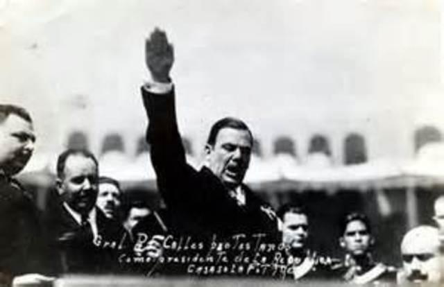 Presidencia de Plutarco Elías calles. (1924-1928), y la creación del Partido Nacional Revolucionario, hoy PRI.