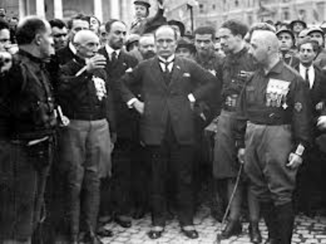 Mussolinis Fascist Party in Italy