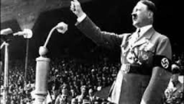 Hitler is welcomed to austria, Gives speech.