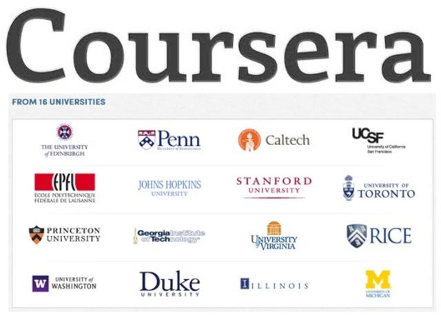 Daphne Koller and Andrew Ng ίδρυσαν την πλατφόρμα Coursera που συνεργάστηκε με: University of Pennsylvania, Princeton University, Stanford University and The University of Michigan.