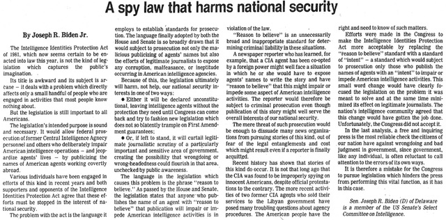 Intelligence Identities Protection Act
