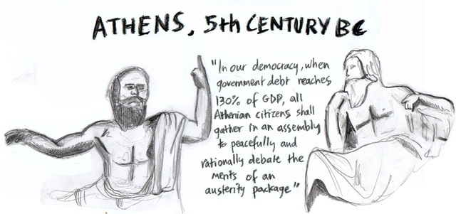 Greek Direct Democracy Clipart