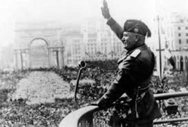 Mussolini's Facist Party in Italy