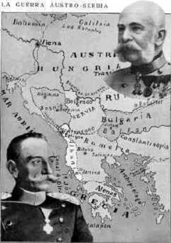 Austria-Hungría le declara la guerra a Servia.