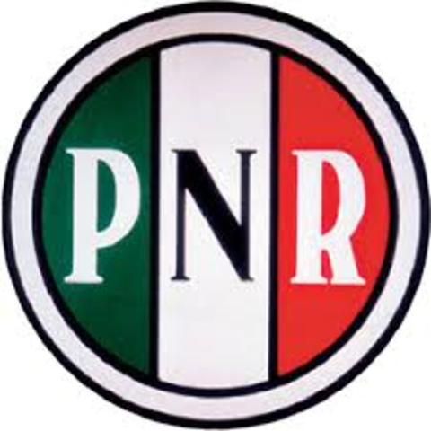 Nace como Partido Nacional Revolucionario