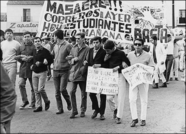 Gran represión social y matanza de estudiantes