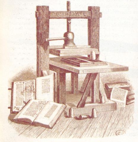 1450 d. C. La Imprenta de tipos móviles