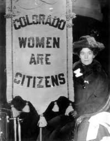 Colorado becomes first state to grant women the right to vote