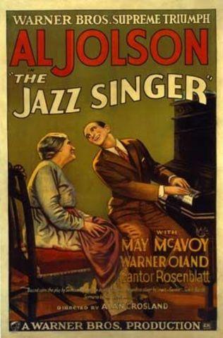 Primera película sonora: el cantante de jazz