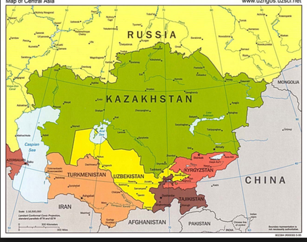 Map Of Asia 1900.Central Asia 1750 1900 Timeline Timetoast Timelines
