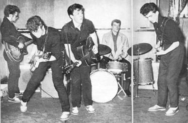 Harrison fue audicionar con una banda llamada Quarrymen conformada por Paul y John Lennon