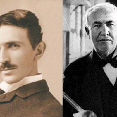 Thomas Alva Edison  i Nikola Tesla timeline