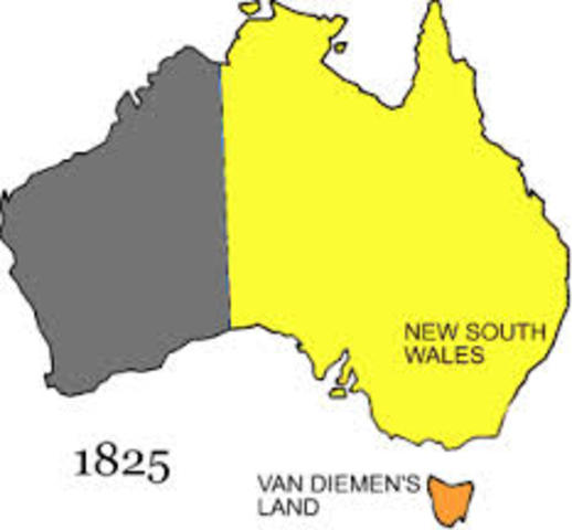 Colonisation of Van Dieman's Land/Tasmania