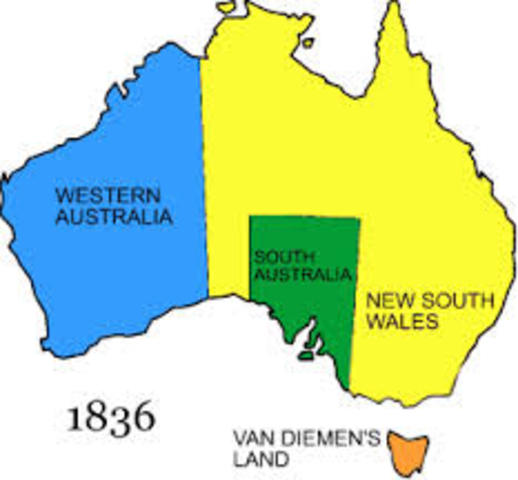 South Australia colonised