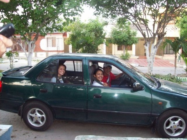 Driving my car!! jajaja