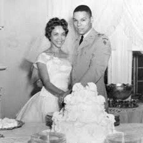 Marriage to Alma Vivian Johnson