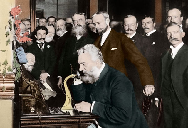 Alexander Graham Bell Invents Telephone