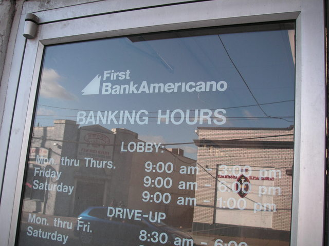 First BankAmericano Founded