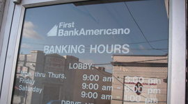 First BankAmericano: Dead, but Not Buried timeline